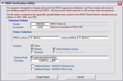 NRDS Verification Utility